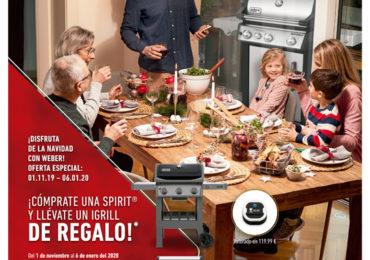Navidad con Weber: oferta barbacoa Spirit con iGrill de regalo