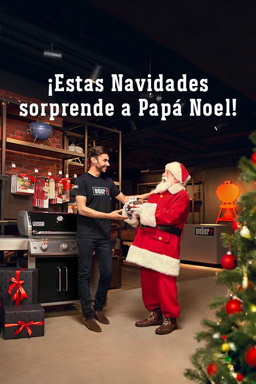 ¡Estas Navidades sorprende a Papá Noel! Con un regalo Weber muy especial.