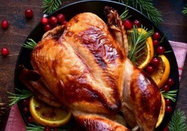 Pollo asado a la naranja y estragón