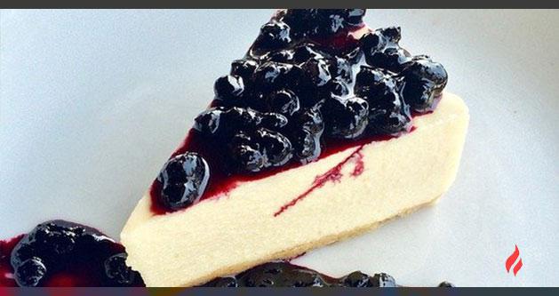 mini cheese cake con frutos rojos